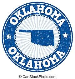 Oklahoma grunge stamp
