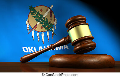 Oklahoma Law Legal System Concept