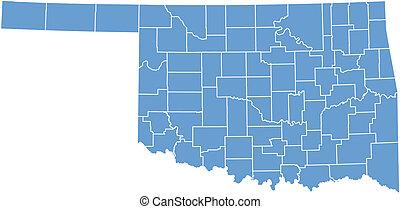 oklahoma, mapa estatal