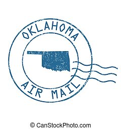 Oklahoma post office, air mail stamp