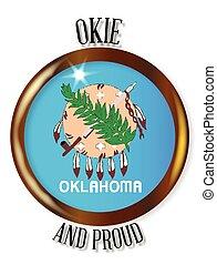 Oklahoma Proud Flag Button