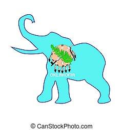 Oklahoma Republican Elephant Flag