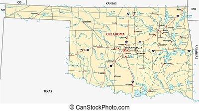 oklahoma road map