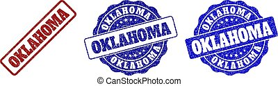 OKLAHOMA Scratched Stamp Seals