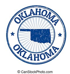 Oklahoma sign or stamp