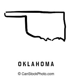 Oklahoma simple logo. State map outline - smooth simplified ...