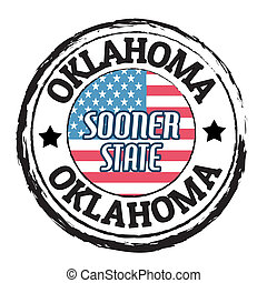 Oklahoma, Sooner State stamp
