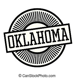OKLAHOMA stamp on white
