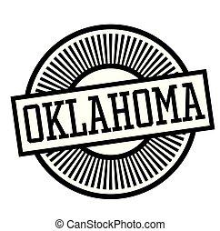 OKLAHOMA stamp on white