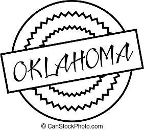 OKLAHOMA stamp on white isolated