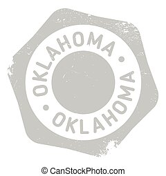 Oklahoma stamp rubber grunge