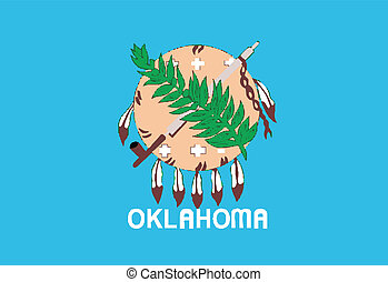 Oklahoma State Flag - The flag of the state of Oklahoma