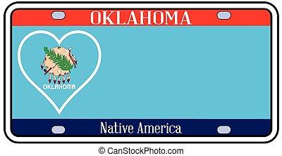 Oklahoma State License Plate - Oklahoma state license plate...