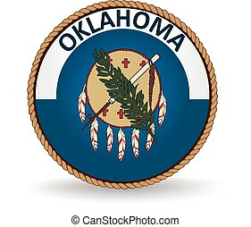Oklahoma State Seal - Seal of the American state of Oklahoma...