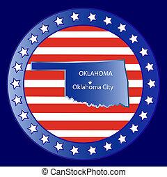 Oklahoma state seal stamp usa