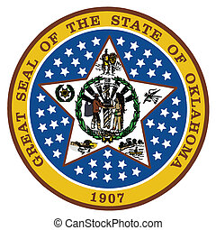 Oklahoma State Seal - The state seal of the state of ...