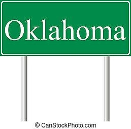 oklahoma, verde, muestra del camino