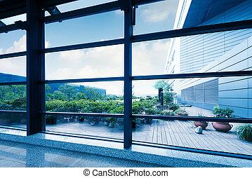 okna, biuro