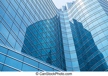 okna, budova, moderní