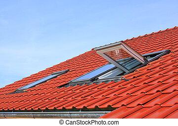okna, dach