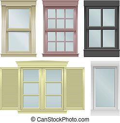 okna, piątka