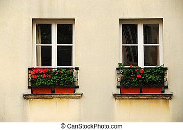 okna, sadař