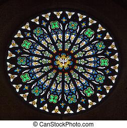 okno, plamione-szkło