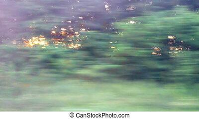 okno, pociąg, prospekt