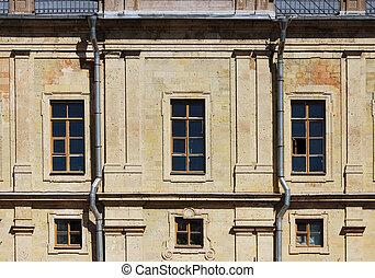 okno, w, przedimek określony przed rzeczownikami, historyczny, architektoniczny, gmach