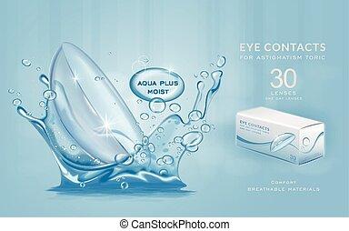 oko, ads, szablon, kontakty