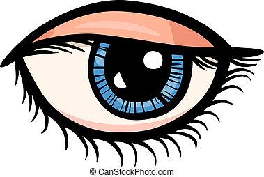 oko, chwyćcie sztukę, rysunek, ilustracja