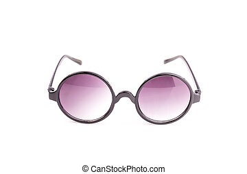 oko, do góry, odizolowany, czarnoskóry, zamknięcie, biały, okulary