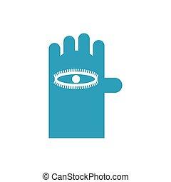 oko, isolated., ilustracja, ręka, wektor, znak