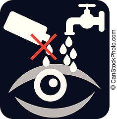 oko, ostrożność