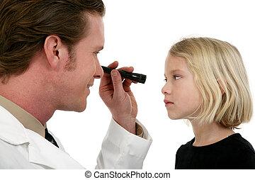 oko, pacjent, doktor