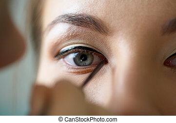 oko, pas, charakteryzacja