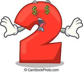oko, pieniądze, odizolowany, dwa, liczba, czerwony, maskotka