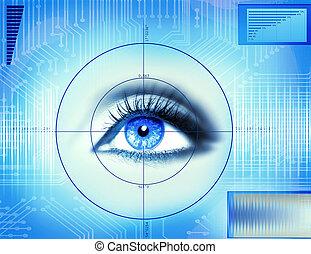 oko, technika