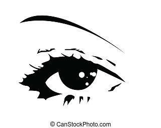 oko, wektor