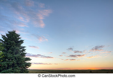 okoboji, sø, solopgang