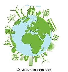 okologisch, weltweit.eps