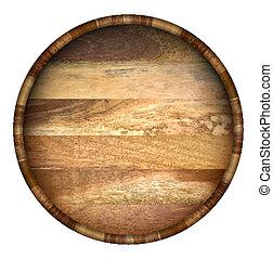okrągły, barrel., drewniany