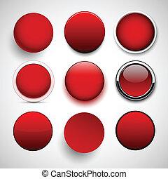 okrągły, icons., czerwony