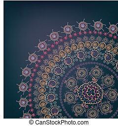 okrągły, karta, motyw, powitanie, projektować, rocznik wina