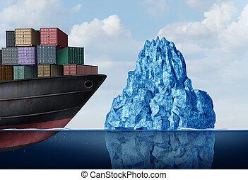 okrętowy, logisty, ryzyko