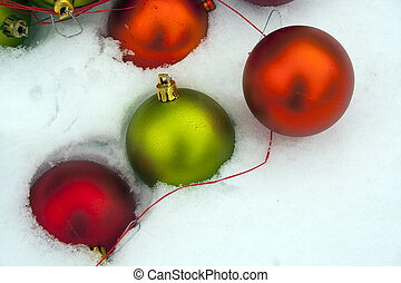okrasa, sněžit, vánoce
