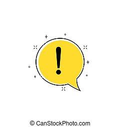 okrzyk, niebezpieczeństwo, poznaczcie., uwaga, znak, ostrzeżenie, ostrożność, błąd, icon., albo, design.