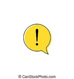 okrzyk, niebezpieczeństwo, poznaczcie., uwaga, znak, wektor, ostrożność, błąd, icon., ostrzeżenie, albo, design.