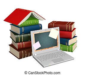 oktatás, át, internet