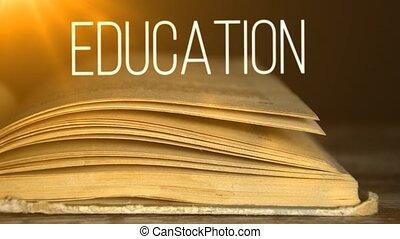 oktatás, alatt, textbooks., elér, experience.